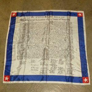 VTG 70s Declaration of Independence SCARF MOD